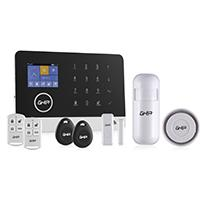 KIT DE ALARMA INICIAL HORUS INALAMBRICA WIFI GSM PANEL TOUCH PANTALLA A COLOR TAMPER SWITCH MARCA GHIA